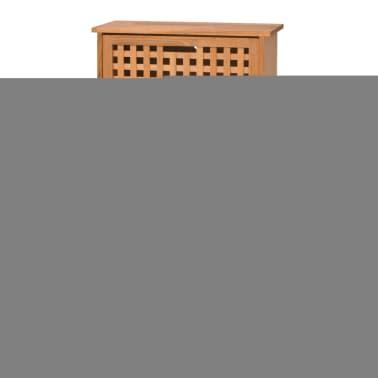 Vidaxl mueble zapatero de madera maciza de nogal 55 x 20 x for Zapatero madera maciza