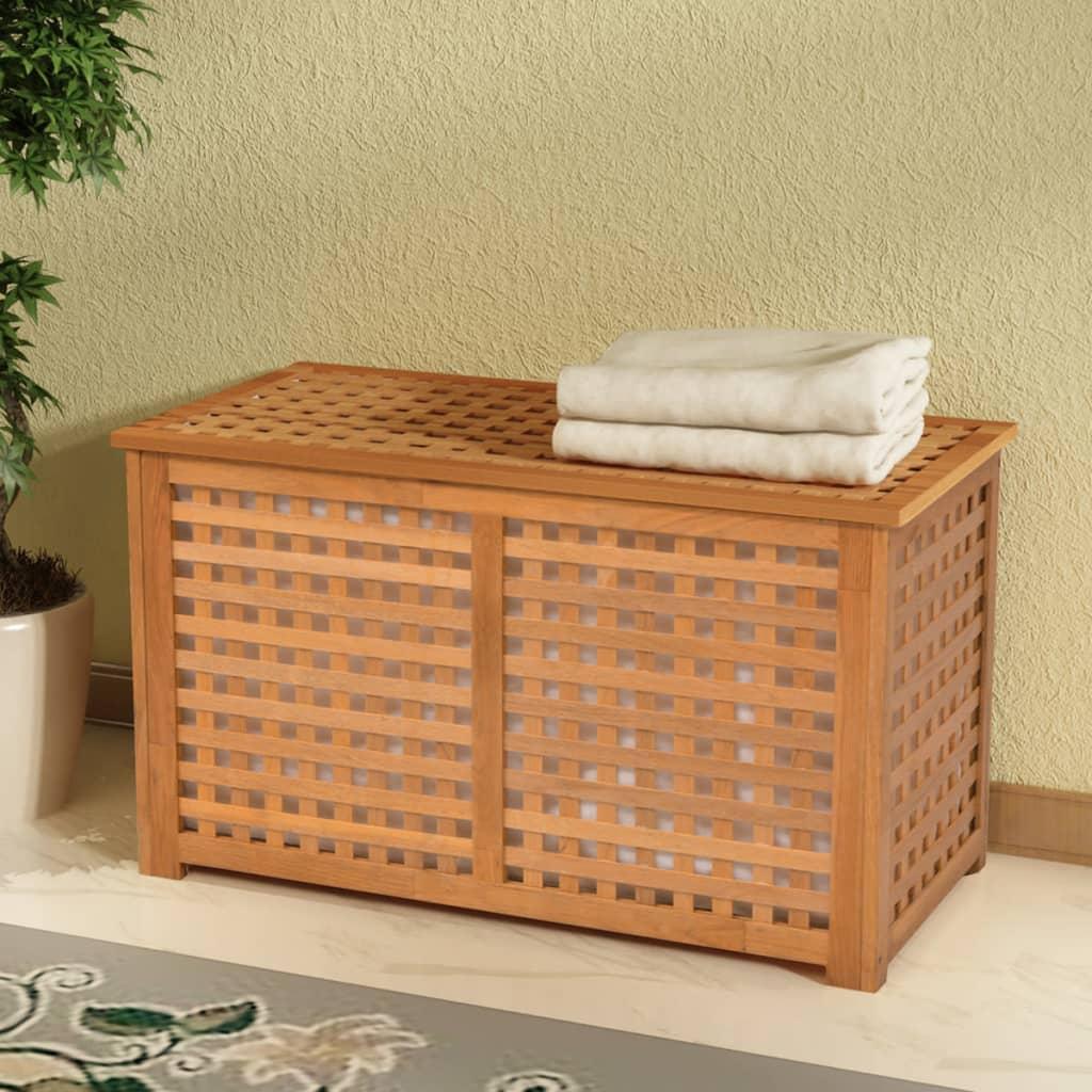 vidaXL Prádelník z masivního ořechového dřevy 77,5x37,5x46,5 cm