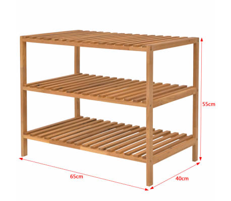 Vidaxl estanter a de lavabo 65x40x55 cm madera maciza de nogal - Estanteria madera maciza ...