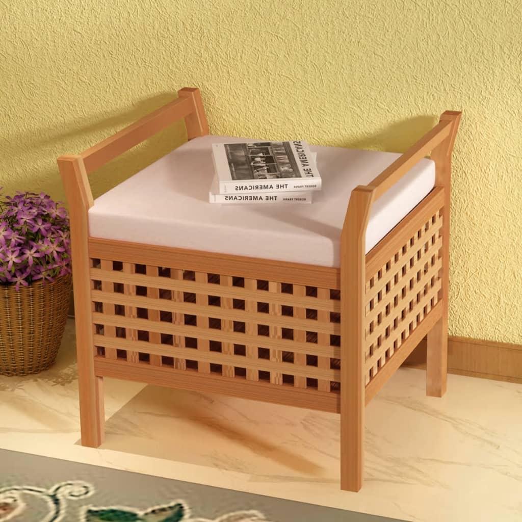 vidaXL Ladă pentru depozitare, lemn solid de nuc, 49 x 48 x 47 cm imagine vidaxl.ro