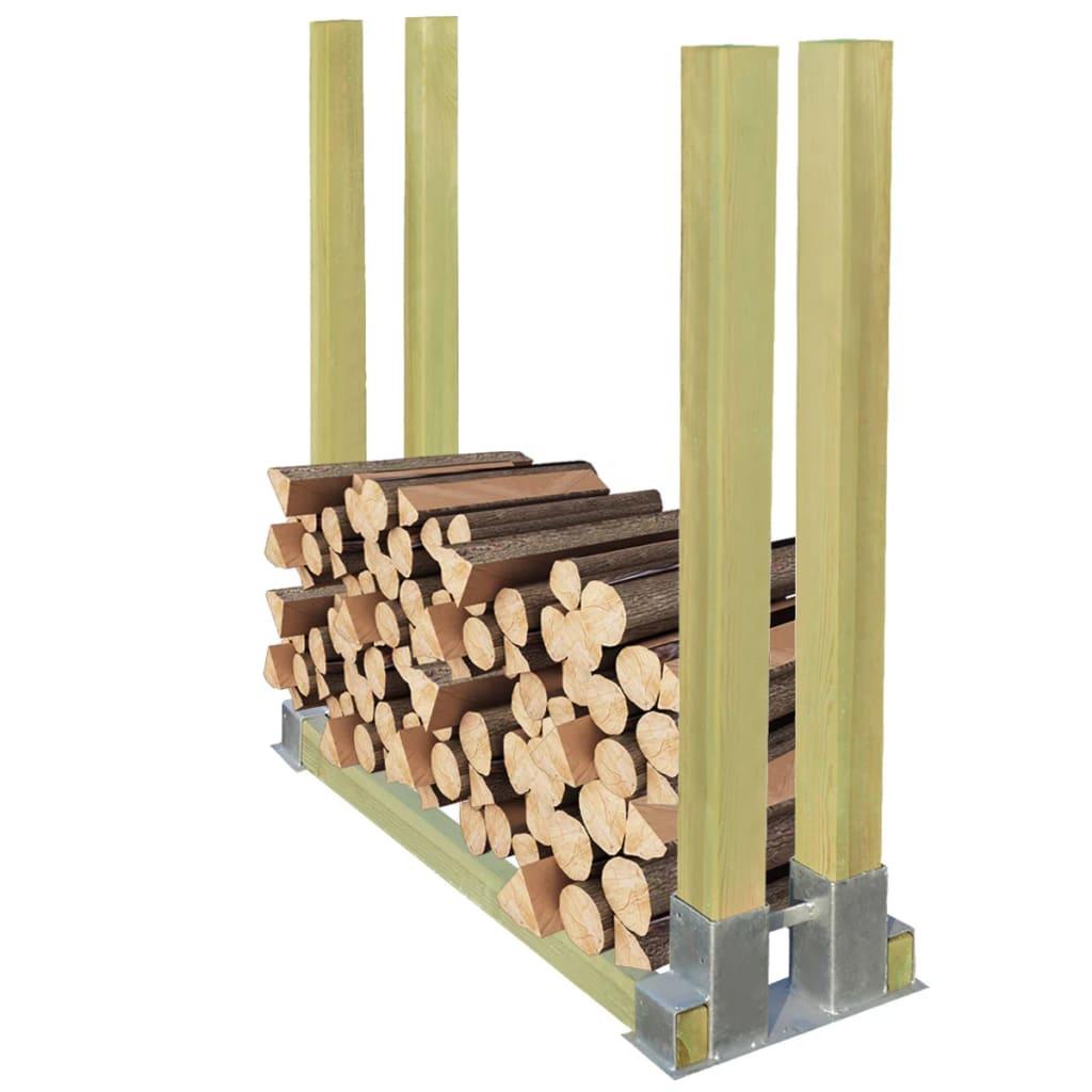 vidaXL Stojan na palivové dříví dřevěný 1000x340x1000 mm