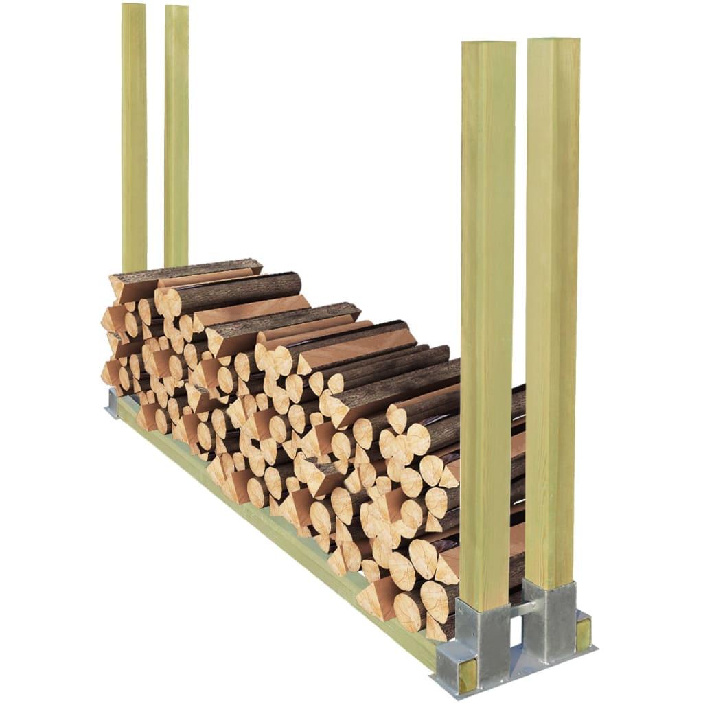 vidaXL Stojan na palivové dříví dřevěný 2000x340x1250 mm (41924+41926)