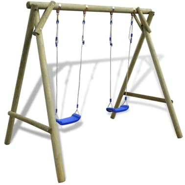 vidaXL Swing Set 204x154x210 cm FSC Pinewood[2/6]