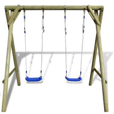 vidaXL Swing Set 204x154x210 cm FSC Pinewood[3/6]