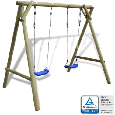 vidaXL Swing Set 204x154x210 cm FSC Pinewood[1/6]
