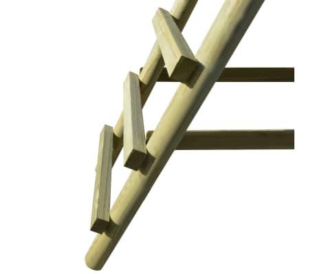 vidaXL Komplet gugalnic z lestvama 268x154x210 cm FSC borovina[5/6]