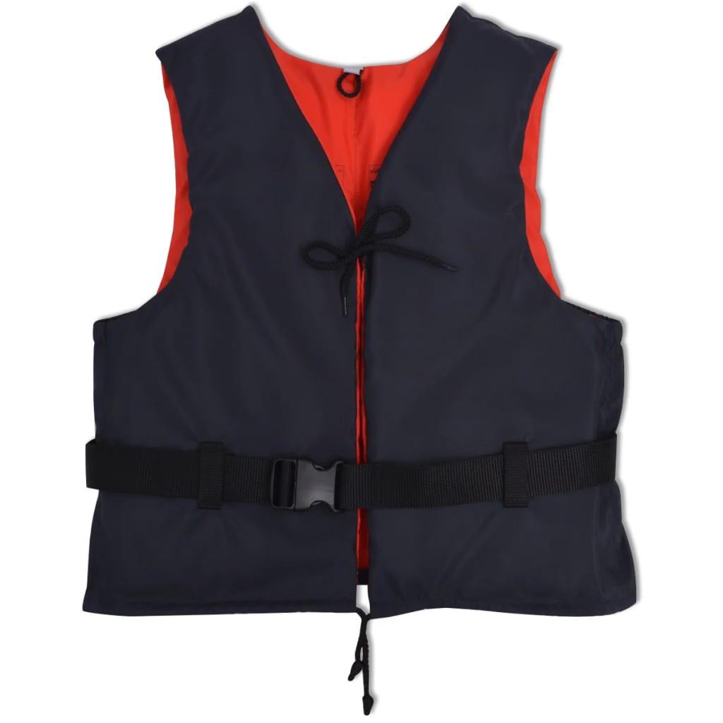 VidaXL Vestă de salvare 50 N, 90+ kg, bleumarin poza 2021 vidaXL