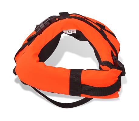vidaXL Rešilni jopič za psa velikost S oranžne barve[5/7]
