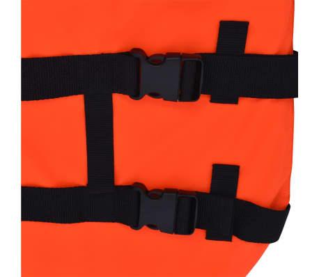 vidaXL Rešilni jopič za psa velikost S oranžne barve[6/7]