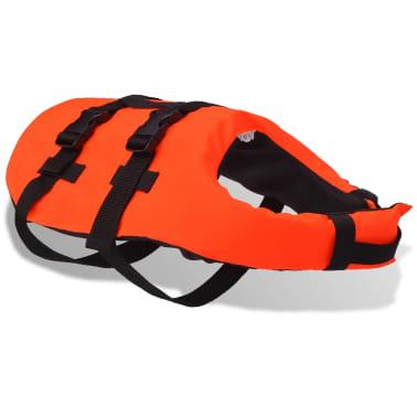 vidaXL Rešilni jopič za psa velikost S oranžne barve[2/7]