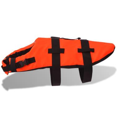 vidaXL Rešilni jopič za psa velikost S oranžne barve[3/7]