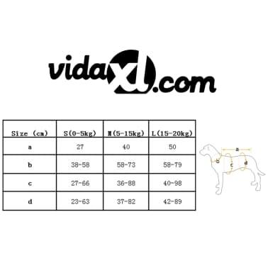 vidaXL Rešilni jopič za psa velikost S oranžne barve[7/7]
