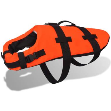 vidaXL Rešilni jopič za psa velikost M oranžne barve[1/7]