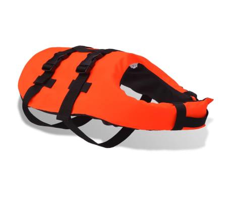 vidaXL Rešilni jopič za psa velikost M oranžne barve[2/7]