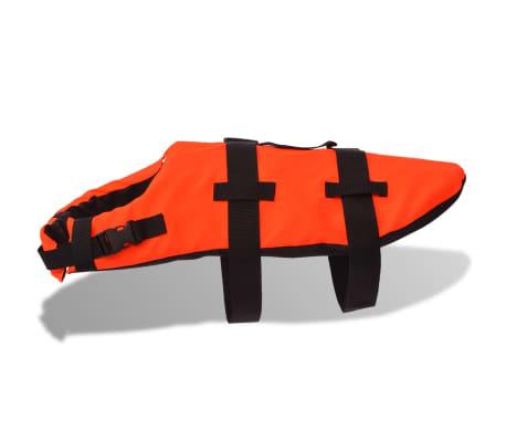 vidaXL Rešilni jopič za psa velikost M oranžne barve[3/7]