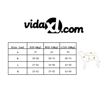 vidaXL Rešilni jopič za psa velikost M oranžne barve[7/7]