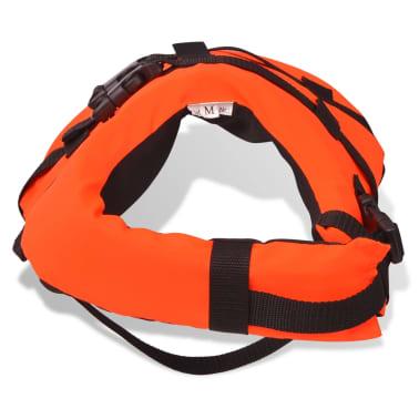 vidaXL Rešilni jopič za psa velikost M oranžne barve[5/7]