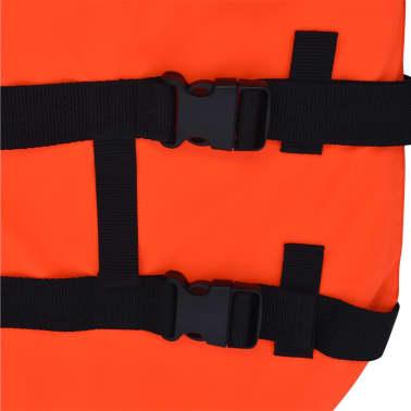 vidaXL Rešilni jopič za psa velikost M oranžne barve[6/7]