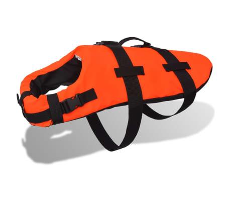 vidaXL Rešilni jopič za psa velikost L oranžne barve[1/7]