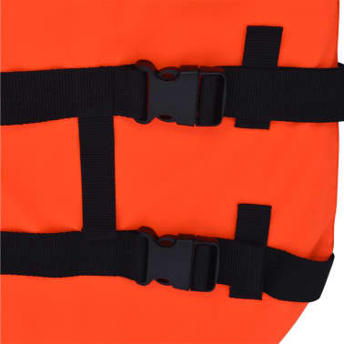 vidaXL Rešilni jopič za psa velikost L oranžne barve[6/7]