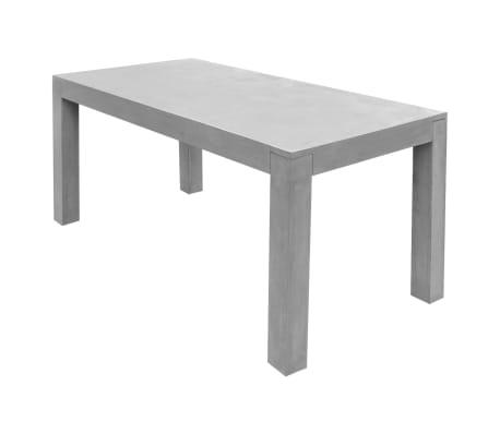 vidaXL Matbord för trädgården 7 delar betong[4/11]