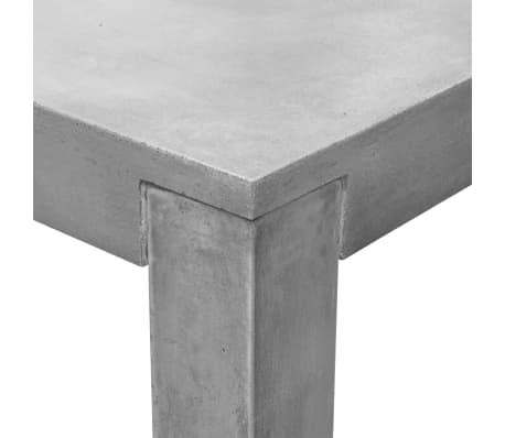 vidaXL Matbord för trädgården 7 delar betong[6/11]