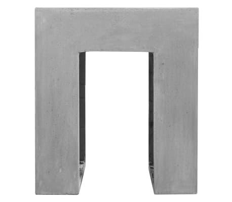 vidaXL Matbord för trädgården 7 delar betong[8/11]