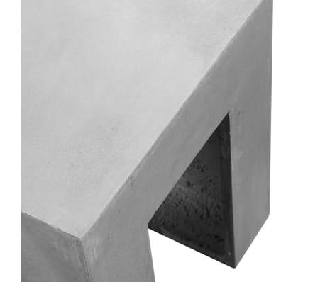 vidaXL Matbord för trädgården 7 delar betong[9/11]