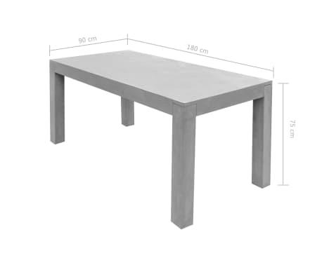 vidaXL Matbord för trädgården 7 delar betong[10/11]