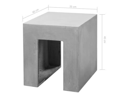 vidaXL Matbord för trädgården 7 delar betong[11/11]