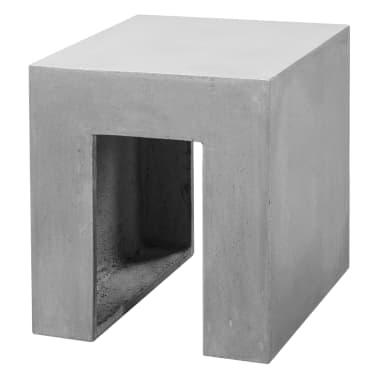 vidaXL Matbord för trädgården 7 delar betong[7/11]