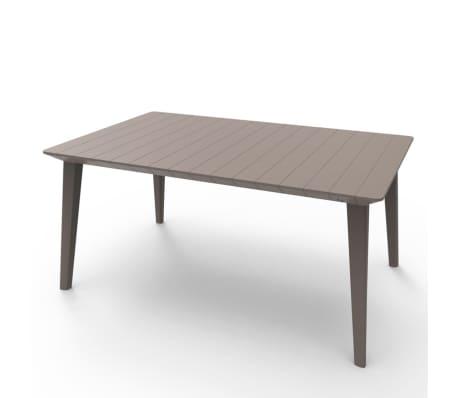acheter allibert mobilier de jardin 5 pcs chris cappuccino. Black Bedroom Furniture Sets. Home Design Ideas