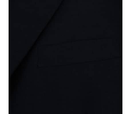 vidaXL Costum bărbătesc 2 piese, pantaloni rezervă, mărime 48, negru[3/8]