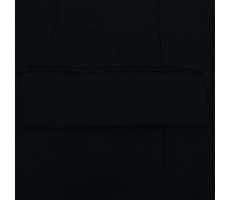 vidaXL Costum bărbătesc 2 piese, pantaloni rezervă, mărime 48, negru[4/8]