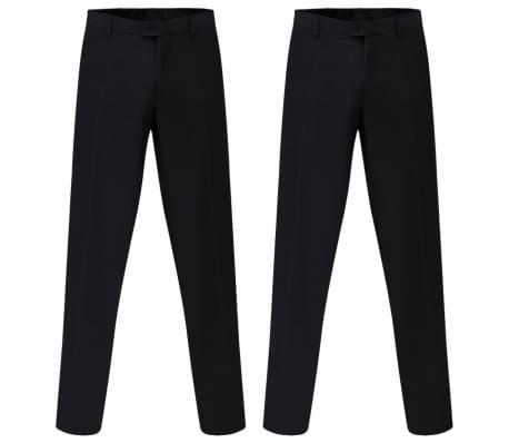 vidaXL Costum bărbătesc 2 piese, pantaloni rezervă, mărime 48, negru[5/8]