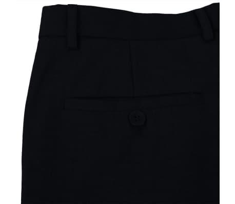 vidaXL Costum bărbătesc 2 piese, pantaloni rezervă, mărime 48, negru[6/8]