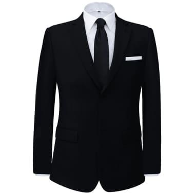 vidaXL Costum bărbătesc 2 piese, pantaloni rezervă, mărime 48, negru[2/8]