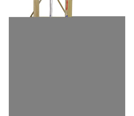 vidaXL Playhouse Set with Ladder, Slide and Swings 290x260x245 cm Wood[5/10]