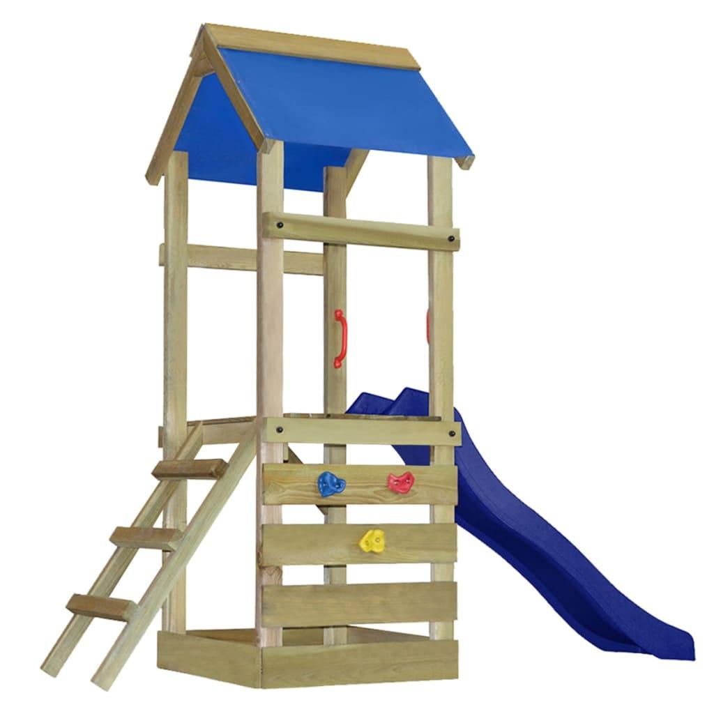 vidaXL Hrací věž, set s žebříkem a skluzavkou 260x90x245 cm dřevo