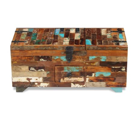 "vidaXL Coffee Table Box Chest Solid Reclaimed Wood 31.5""x15.7""x13.8""[6/9]"