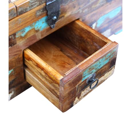 "vidaXL Coffee Table Box Chest Solid Reclaimed Wood 31.5""x15.7""x13.8""[8/9]"