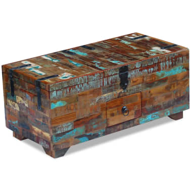 "vidaXL Coffee Table Box Chest Solid Reclaimed Wood 31.5""x15.7""x13.8""[2/9]"