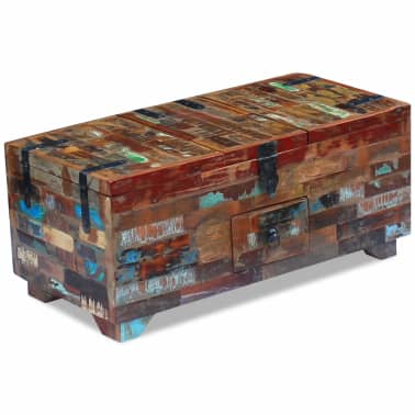 "vidaXL Coffee Table Box Chest Solid Reclaimed Wood 31.5""x15.7""x13.8""[3/9]"