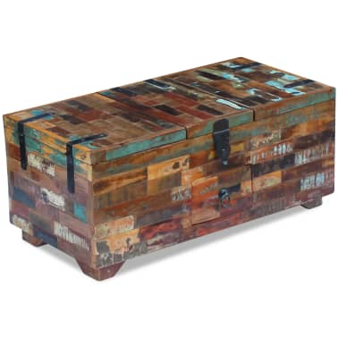 "vidaXL Coffee Table Box Chest Solid Reclaimed Wood 31.5""x15.7""x13.8""[4/9]"
