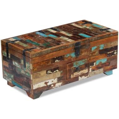 "vidaXL Coffee Table Box Chest Solid Reclaimed Wood 31.5""x15.7""x13.8""[5/9]"