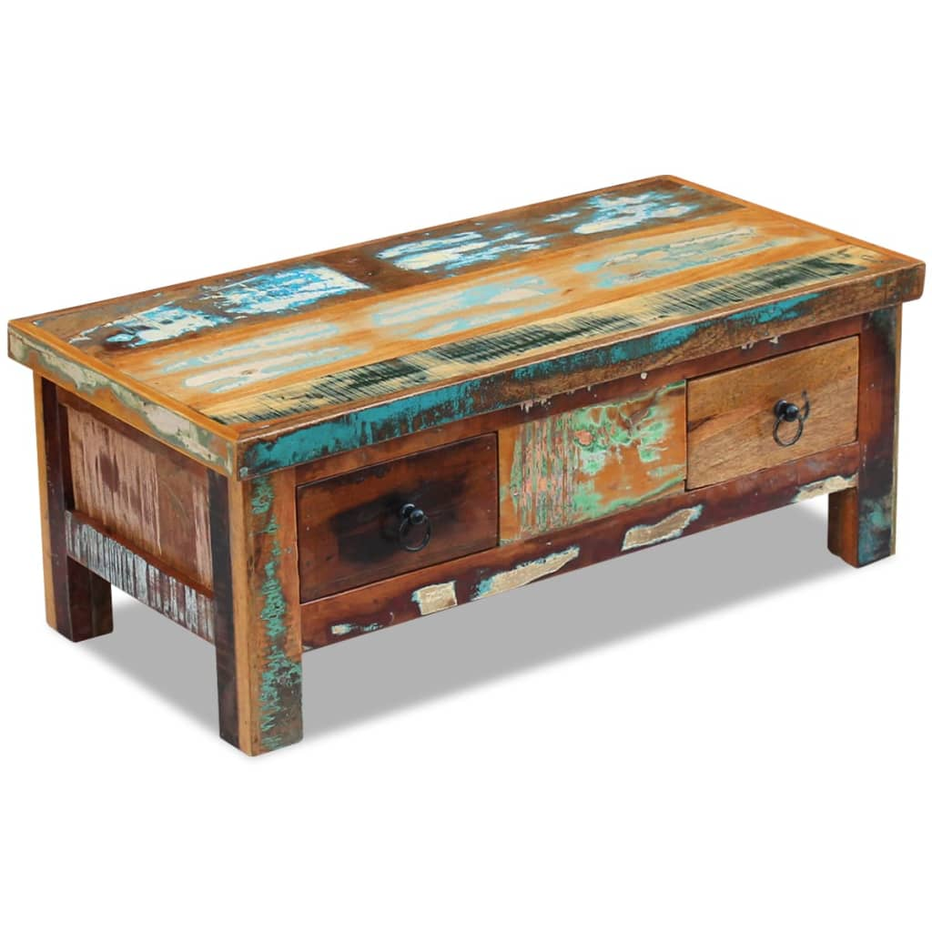 This Antique Style Reclaimed Coffee Table Will Make A Unique Addition To Your Room Its Solid Wood Construction Makes It Le And Secure Place Drinks