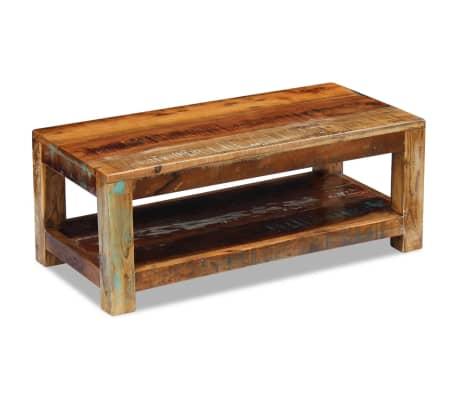 """vidaXL Coffee Table Solid Reclaimed Wood 35.4""""x17.7""""x13.8""""[2/8]"""