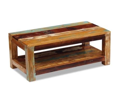 """vidaXL Coffee Table Solid Reclaimed Wood 35.4""""x17.7""""x13.8""""[4/8]"""