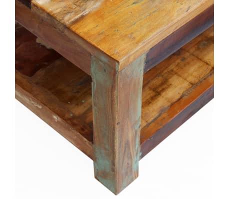 """vidaXL Coffee Table Solid Reclaimed Wood 35.4""""x17.7""""x13.8""""[7/8]"""