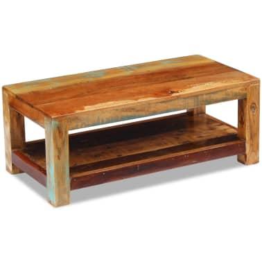"""vidaXL Coffee Table Solid Reclaimed Wood 35.4""""x17.7""""x13.8""""[5/8]"""